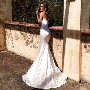 Sleeveless White Gown